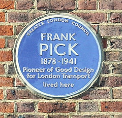 Photo of Frank Pick blue plaque