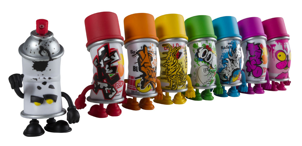 Bent world spray can mini series from mad x kidrobot Paint with spray can