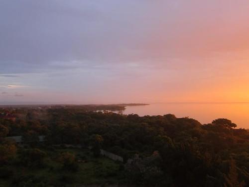 sunset lake victoria kisumu kenya
