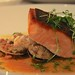 Steelhead with clams and sausage
