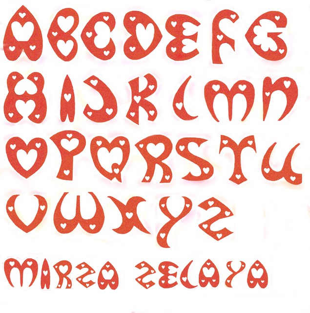 LETTERS HEART SHAPE, Typography | Flickr - Photo Sharing!