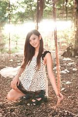 [フリー画像素材] 人物, 女性 - アジア, 台湾人, 人物 - 森林 ID:201303180800
