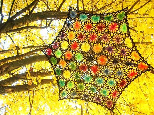 Crochet Umbrella - Lacy Daisy Crochet Parasol