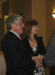 Senator Ben Nelson with Jane Kleeb