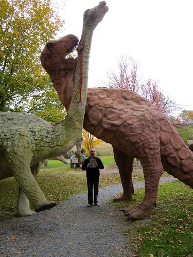 Dinosaur Land Battling Dinosaurs
