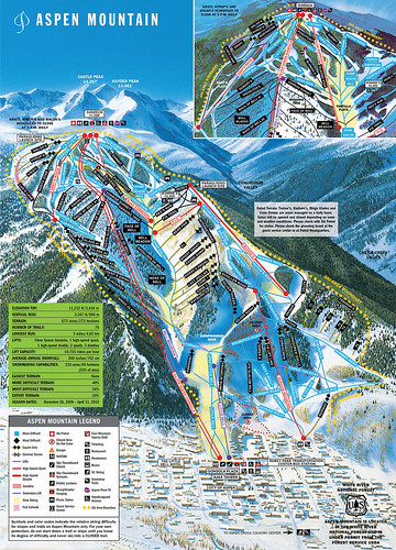 Aspen Snowmass - mapa sjezdovek