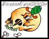 skull dagger Ink on a