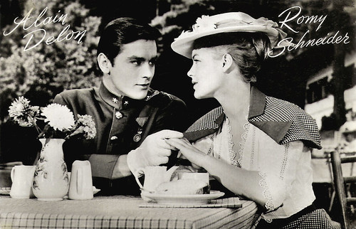 Alain Delon and Romy Schneider in Christine