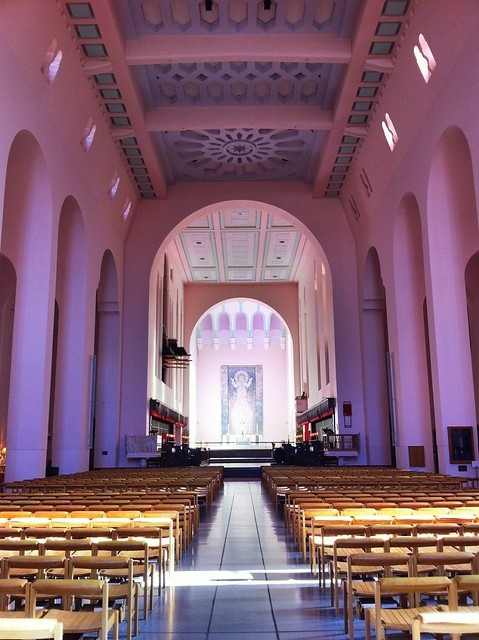 Inside the (yes, very pink) Wellington Cathedral