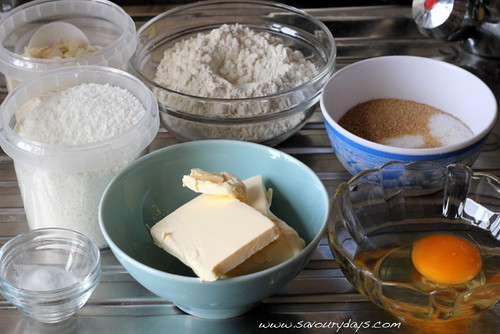 Almond coconut cookies - Ingredients