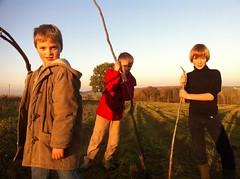 3 guerriers sortis du bois