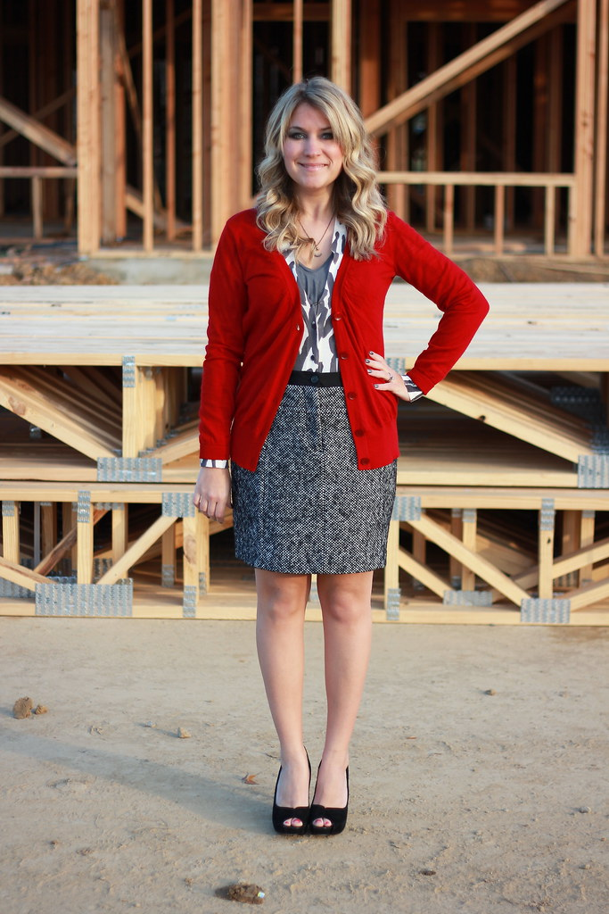 double cardigan layered work look