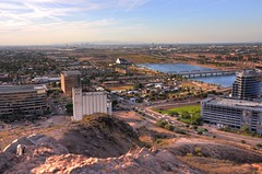 Tempe Town Lake from 'A' Mtn