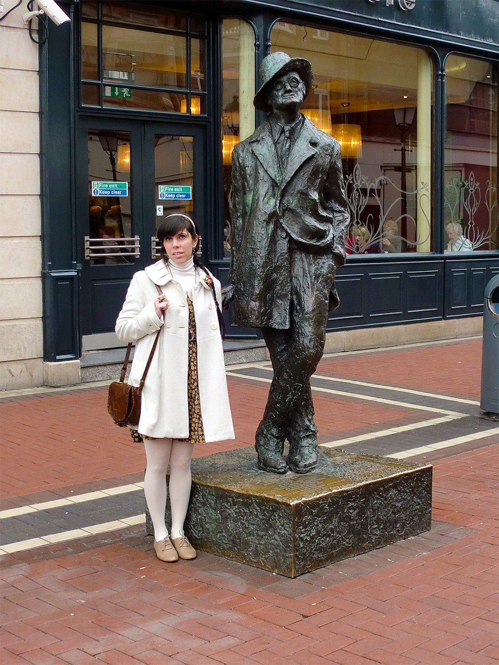 Statue of James Joyce on North Earl Street - Dublin, Ireland.