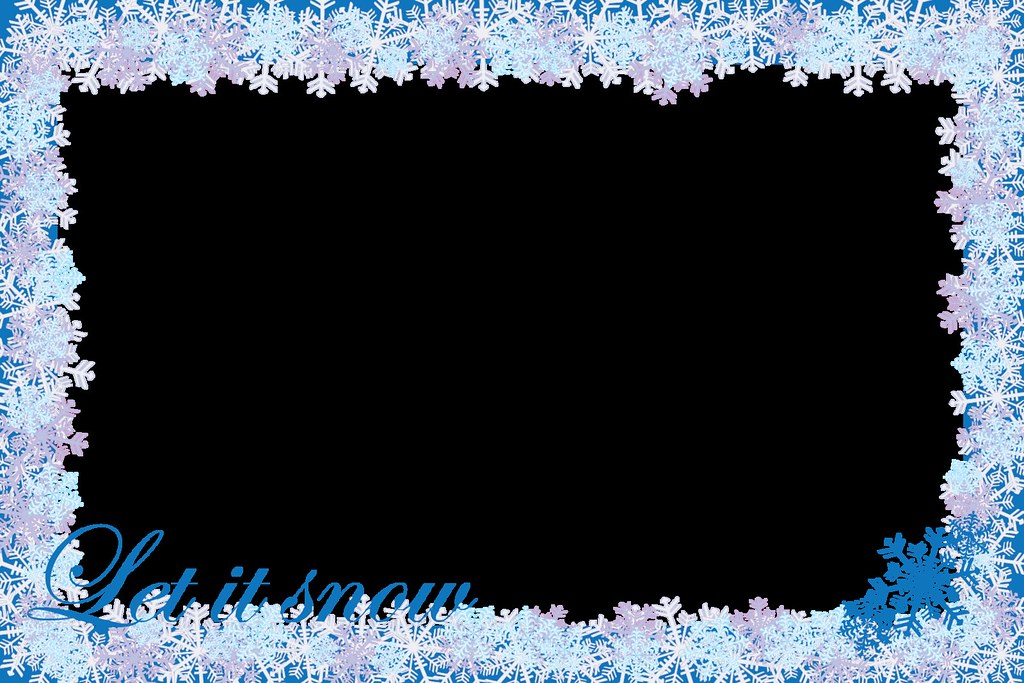 Christmas Decorations Frame Let It Snow