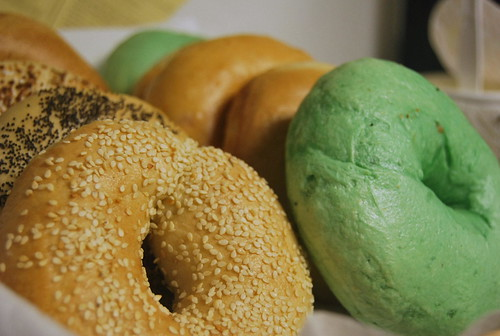 Green bagels at work