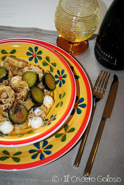 Sole con zucchine, acciughe e mozzarelline