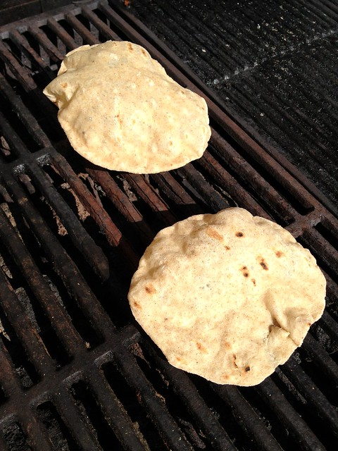 Chapatti on the grill