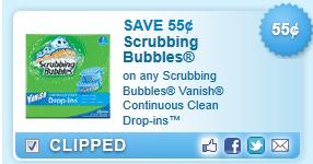 Scrubbing Bubbles Vanish Drop-in Coupon