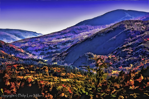 nature watercolor landscape vermont fallfoliage rollinghills mttabor mapletrees danby philipleemiller bigbranchoverlook