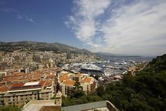 View of Monaco and harbor