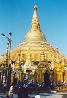 Image of  Shwedagon Pagoda  near  Shwedagon Pagoda. pagoda shwedagon yangon burma 1999 myanmar shwedagonpaya