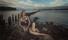 [フリー画像素材] 人物, 女性, 水着 - ワンピース, 人物 - 海, アメリカ人 ID:201203160200