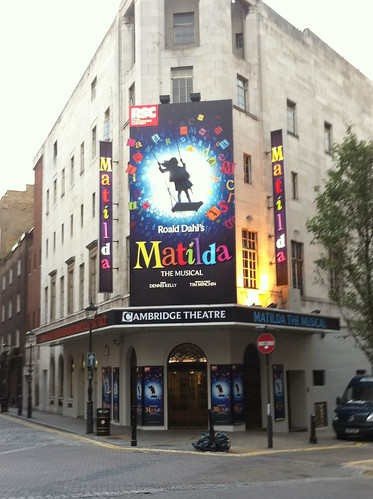 Matilda at the Cambridge Theatre, Seven Dials