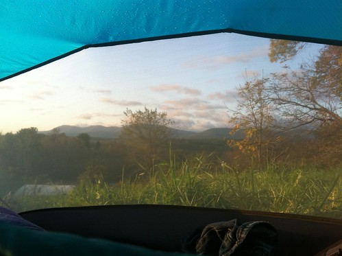 Tent with Catskills