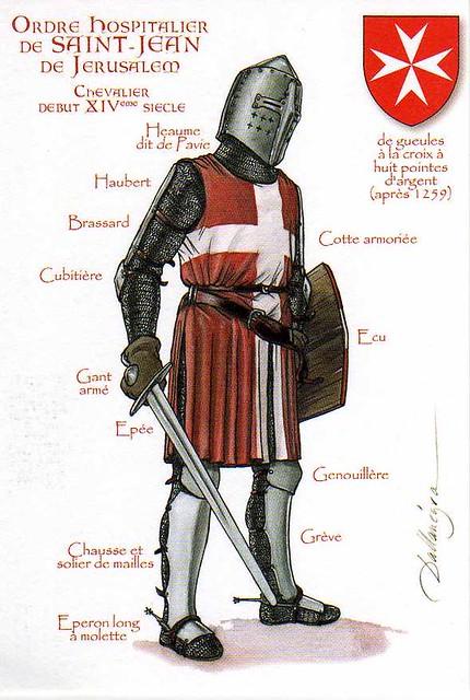 Aspecto en combate de un caballero hospitalario del siglo XIV  6272761702_18588260b1_z