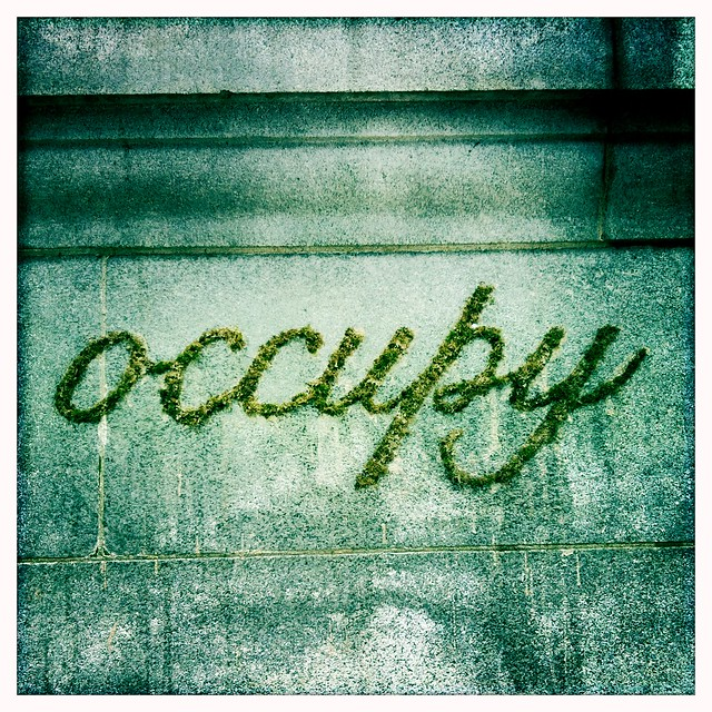 occupy vancouver moss graffiti flickr photo sharing. Black Bedroom Furniture Sets. Home Design Ideas