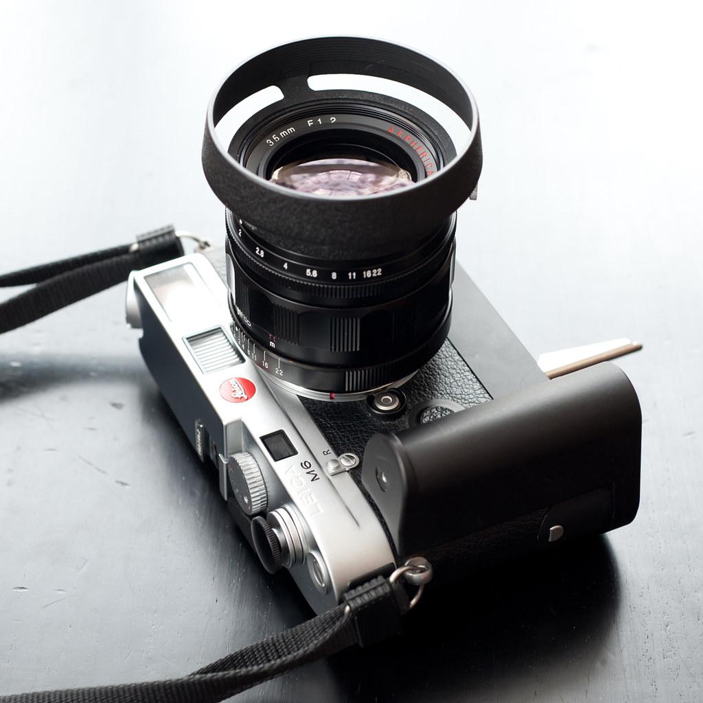 Leica M6   Rapidwinder & Rapidgrip Soft release for Leica M