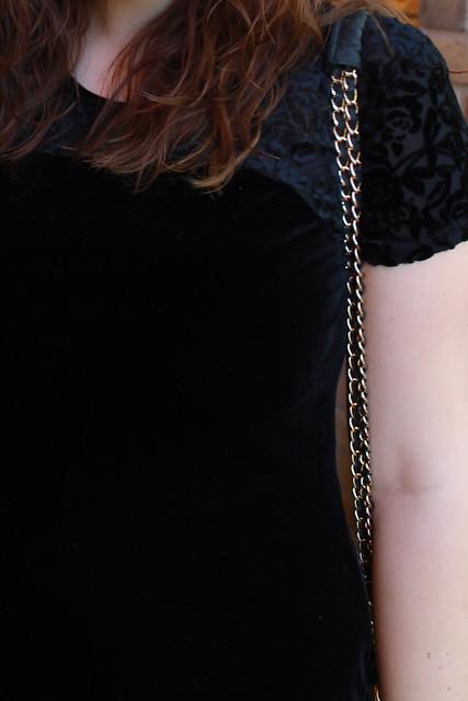 Black velvet vintage dress