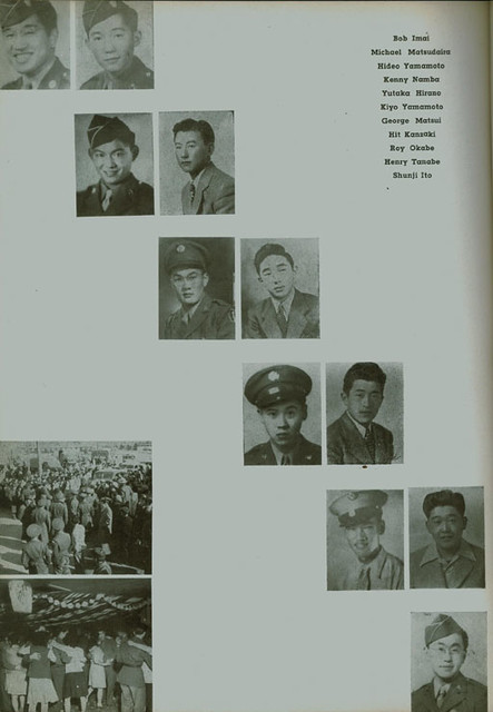 1945 Hunt High School yearbook page