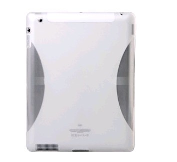 Slim-Fit Clear Silicone Case Cover for iPad 2