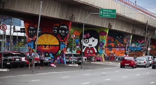 Museo Aberto de Arte Urbana, Sao Paulo :Leon & Ras + Ana K + Dédo