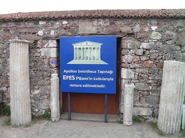 The temple of Apollo Smintheus, Gülpinar (Anatolia)