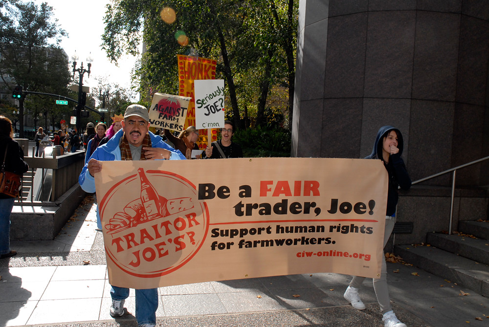 March for Farmworker Justice in Oakland - Destination Trader Joe's