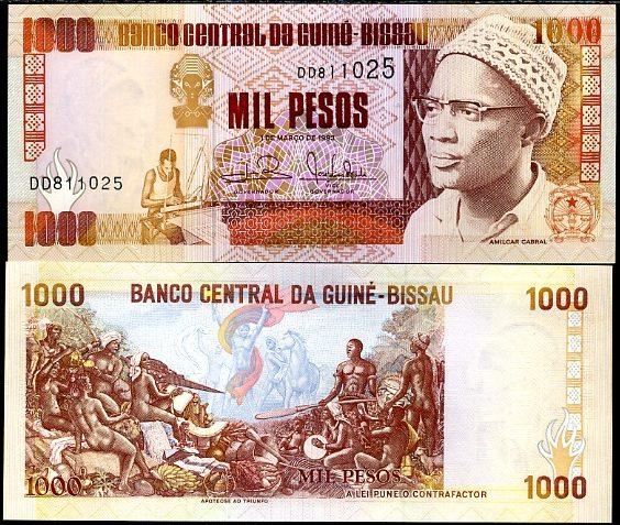 1000 Pesos Guinea Bissau 1993, Pick 13