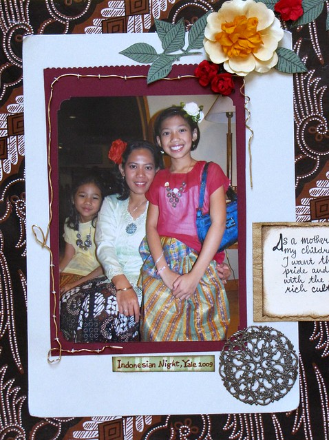 Batik Inspired Scrapbook/Wire Works (2)