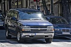 chevrolet(1.0), automobile(1.0), automotive exterior(1.0), sport utility vehicle(1.0), wheel(1.0), vehicle(1.0), compact sport utility vehicle(1.0), chevrolet tahoe(1.0), bumper(1.0), land vehicle(1.0), motor vehicle(1.0),