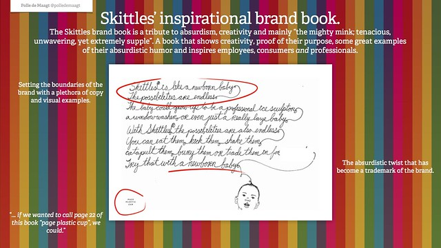 Skittles' inspirational brand book.