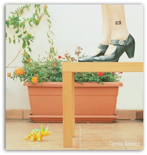 ¡Oh! ¡hay un dino en mi terraza! by Carola (Soñando cambios)