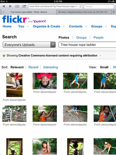 Flickr Creative Commons Image Search on iPad