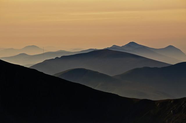 Lleyn mountains from Yr Ole Wen
