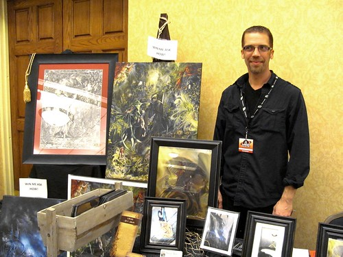 Vendor Shawn Orne of Witherstone Arts & Antiquities