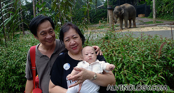 My parents with Asher