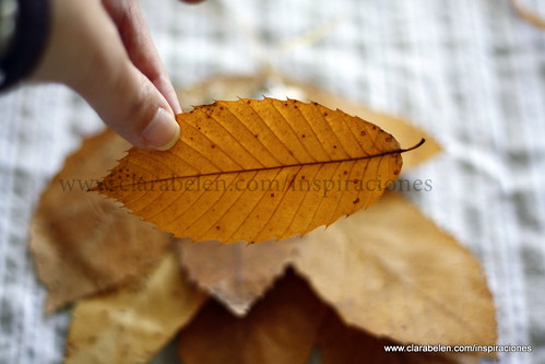 Ideas para adornos navideños con hojas secas de castaño