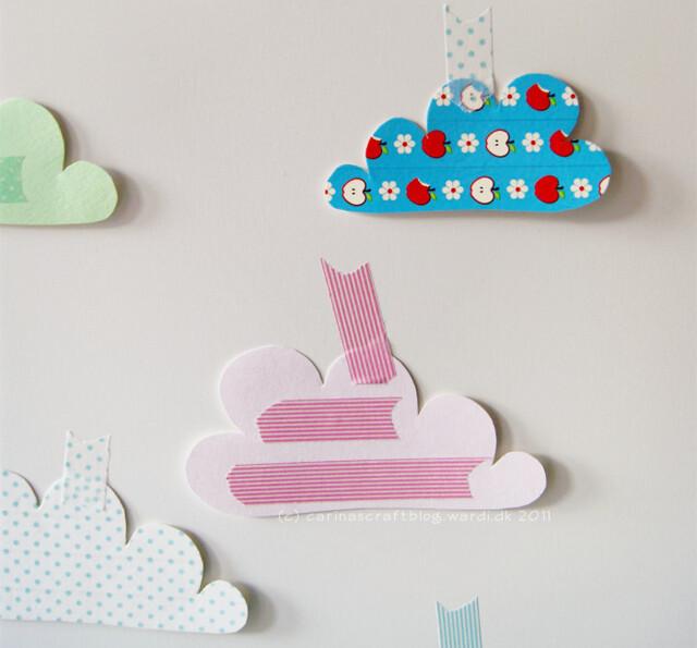 Paper clouds...