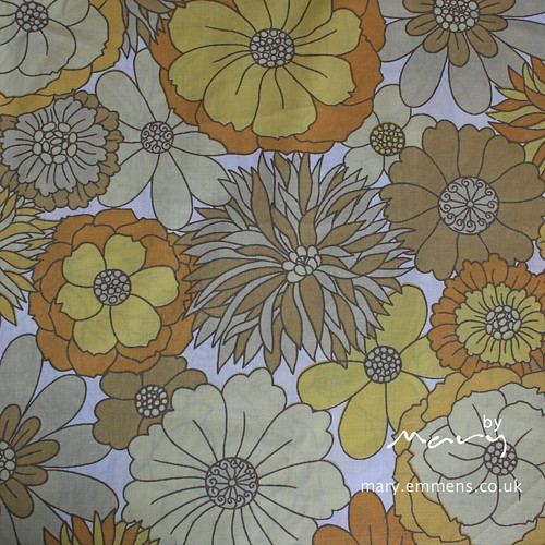 Yellow floral vintage sheet